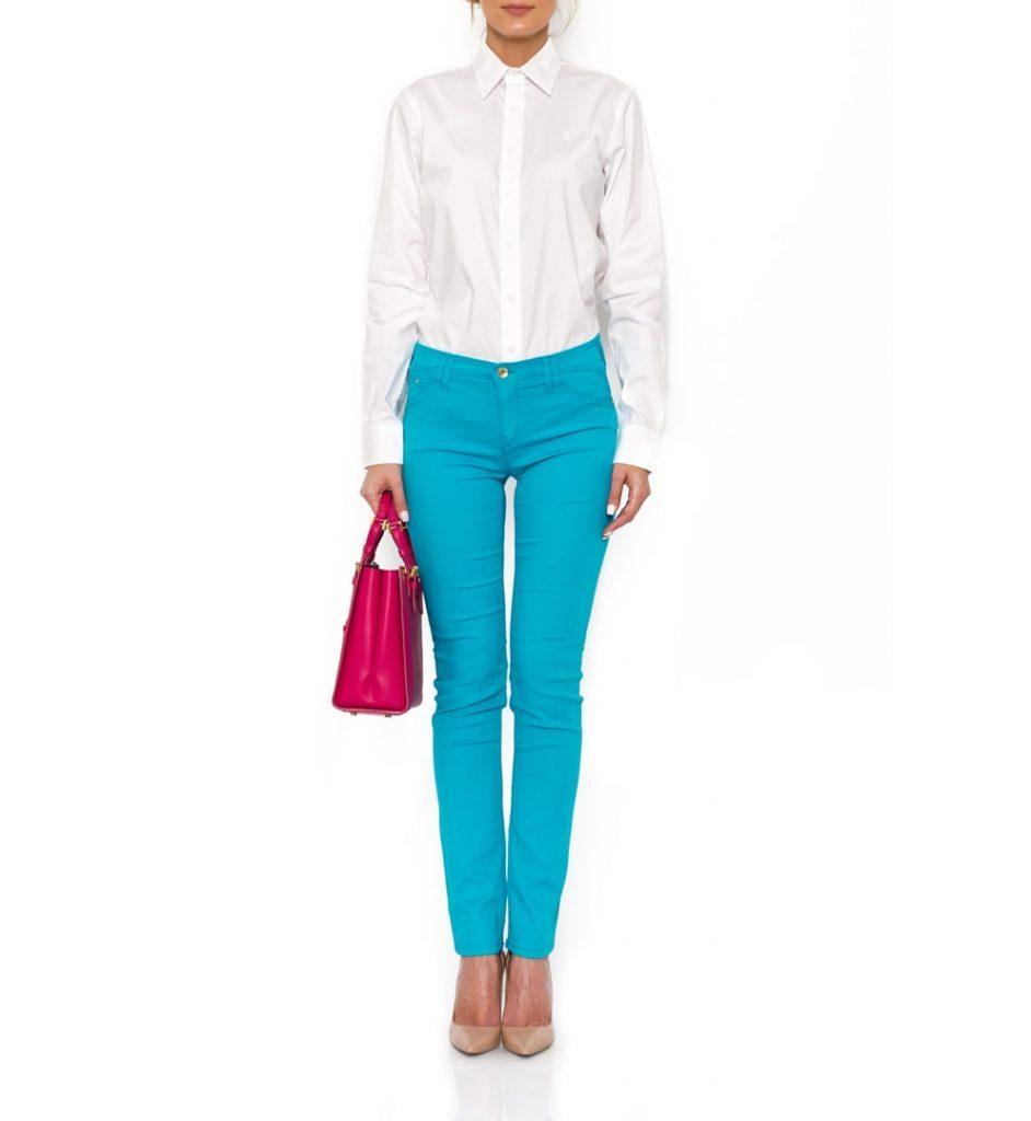 The Dresser - Jeans skinny de culoare turcoaz